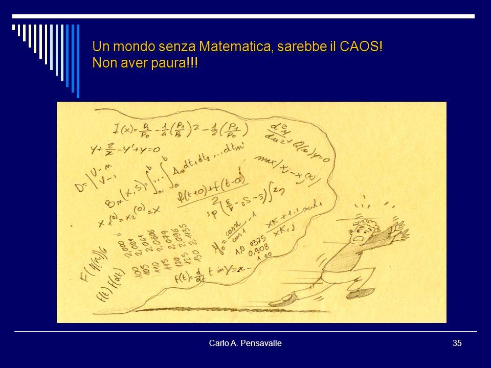 Un mondo senza Matematica, sarebbe il CAOS! Non aver paura!!!