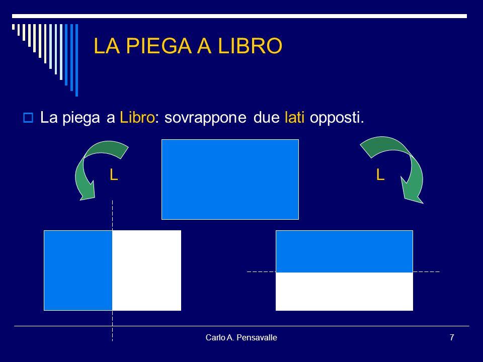 LA PIEGA A LIBRO La piega a Libro: sovrappone due lati opposti. L L