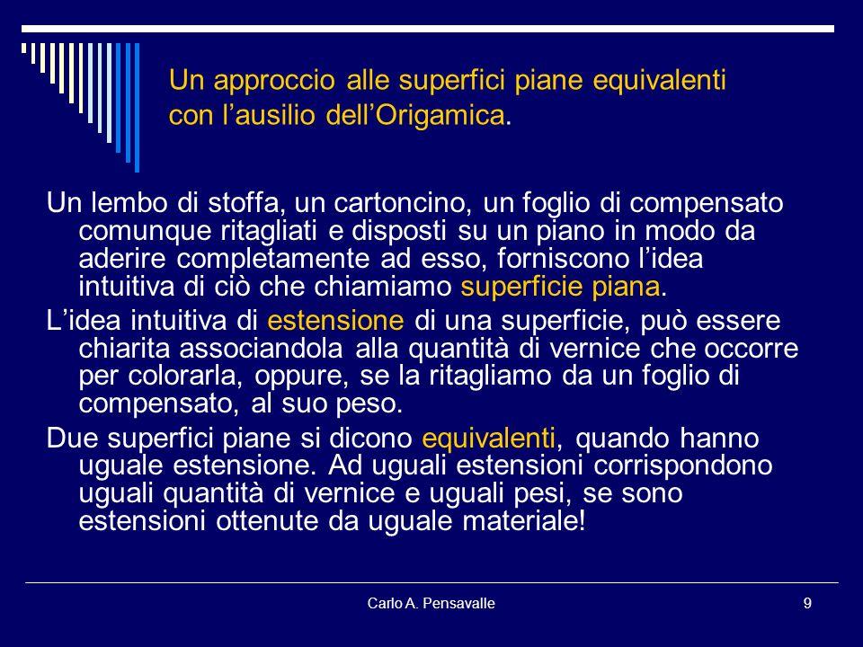 Un approccio alle superfici piane equivalenti con l'ausilio dell'Origamica.