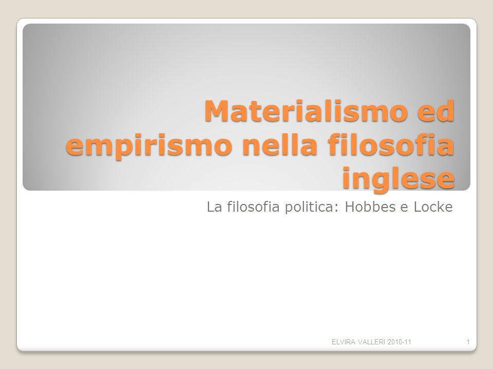 Materialismo ed empirismo nella filosofia inglese