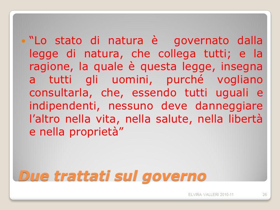 Due trattati sul governo