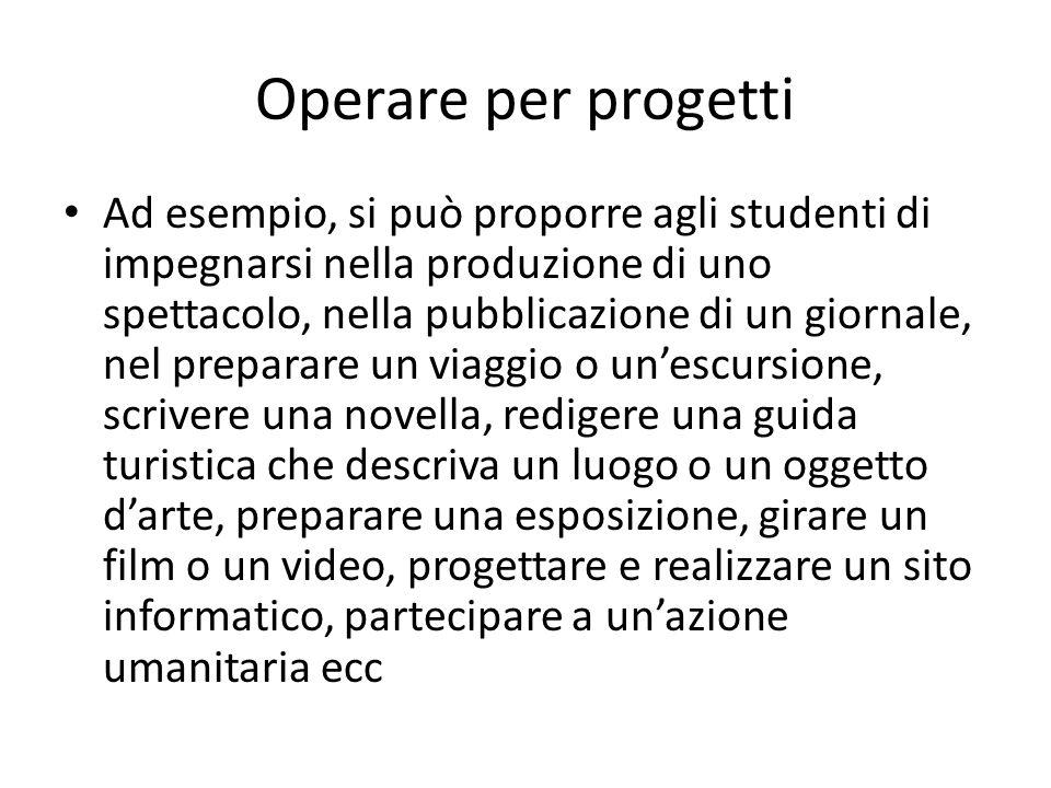 Operare per progetti