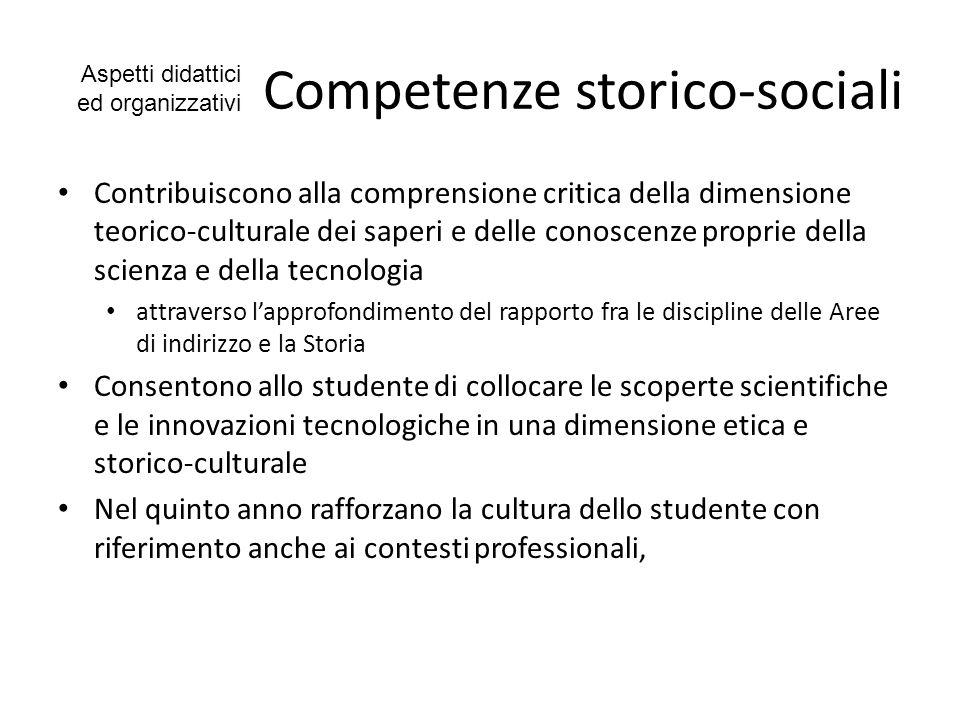 Competenze storico-sociali