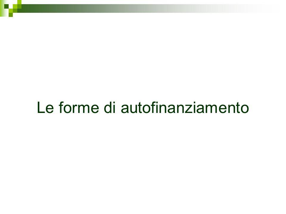 Le forme di autofinanziamento