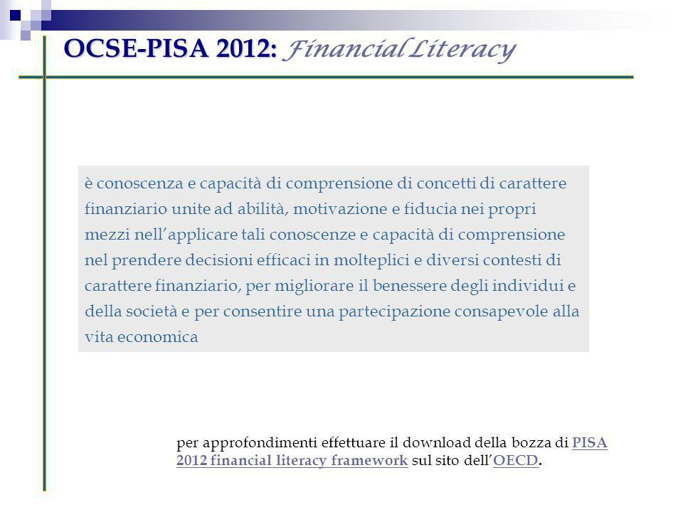 OCSE-PISA 2012: Financial Literacy