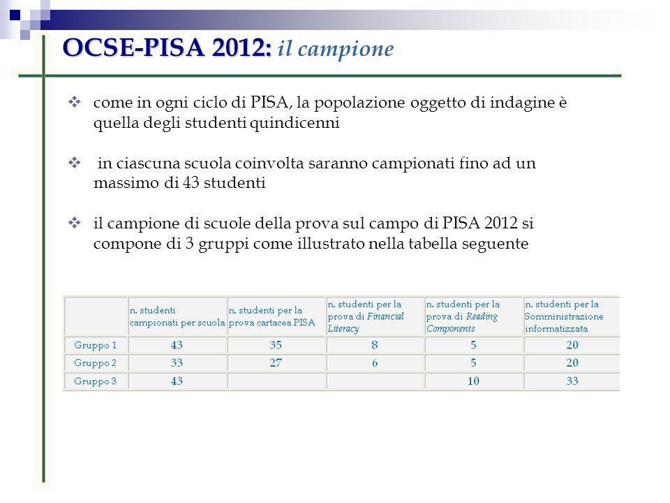 OCSE-PISA 2012: il campione