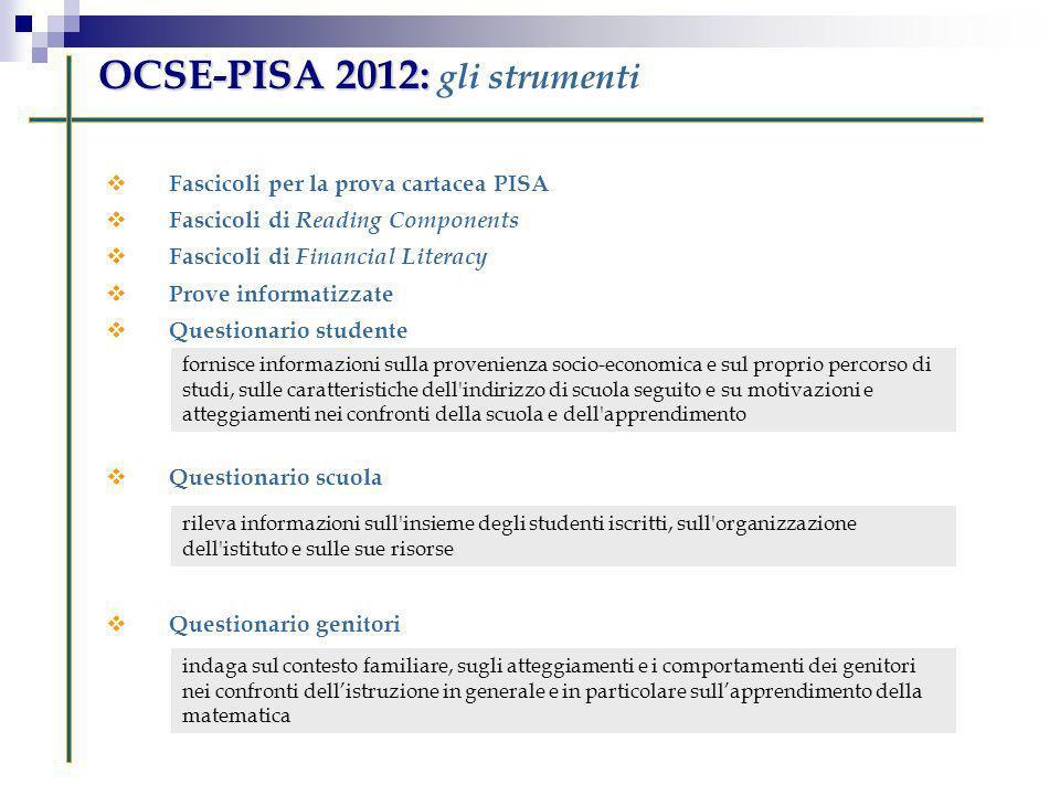 OCSE-PISA 2012: gli strumenti