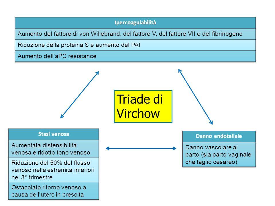 Triade di Virchow Ipercoagulabilità