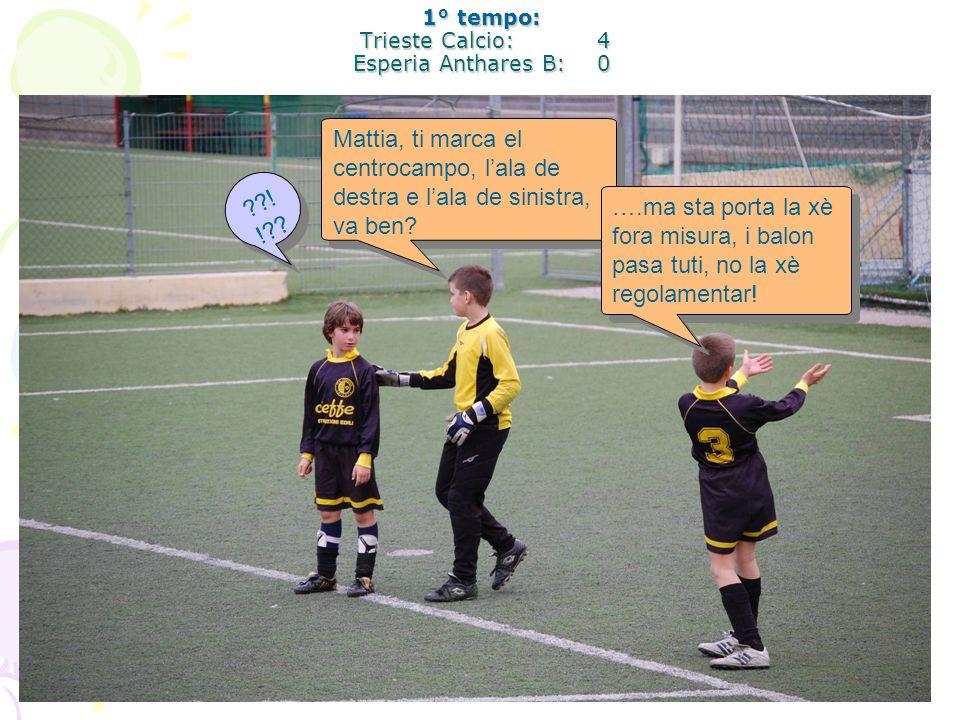 1° tempo: Trieste Calcio: 4 Esperia Anthares B: 0