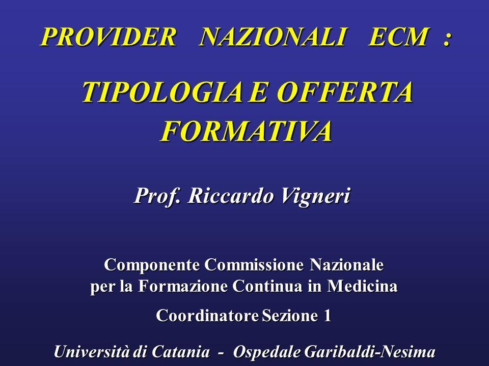 TIPOLOGIA E OFFERTA FORMATIVA