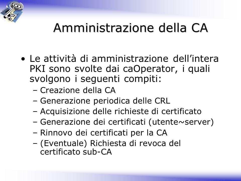 Amministrazione della CA