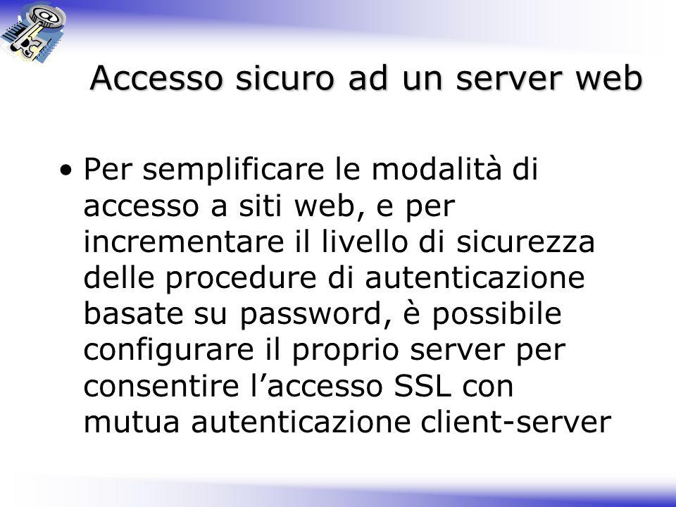 Accesso sicuro ad un server web