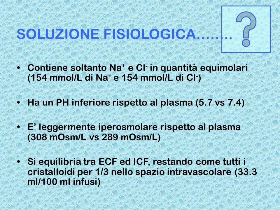 SOLUZIONE FISIOLOGICA……..