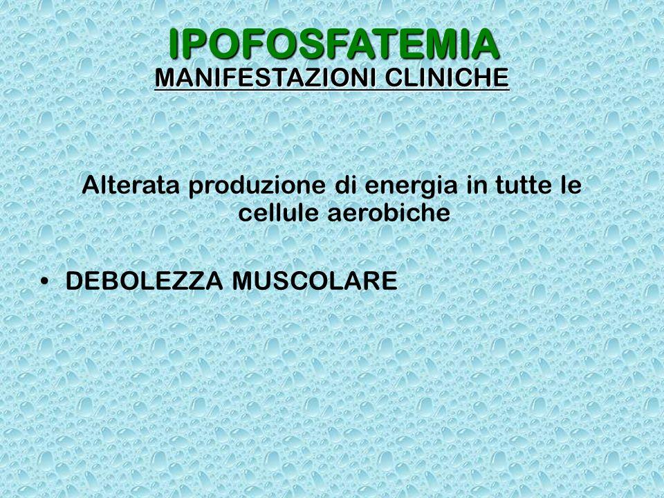 IPOFOSFATEMIA MANIFESTAZIONI CLINICHE