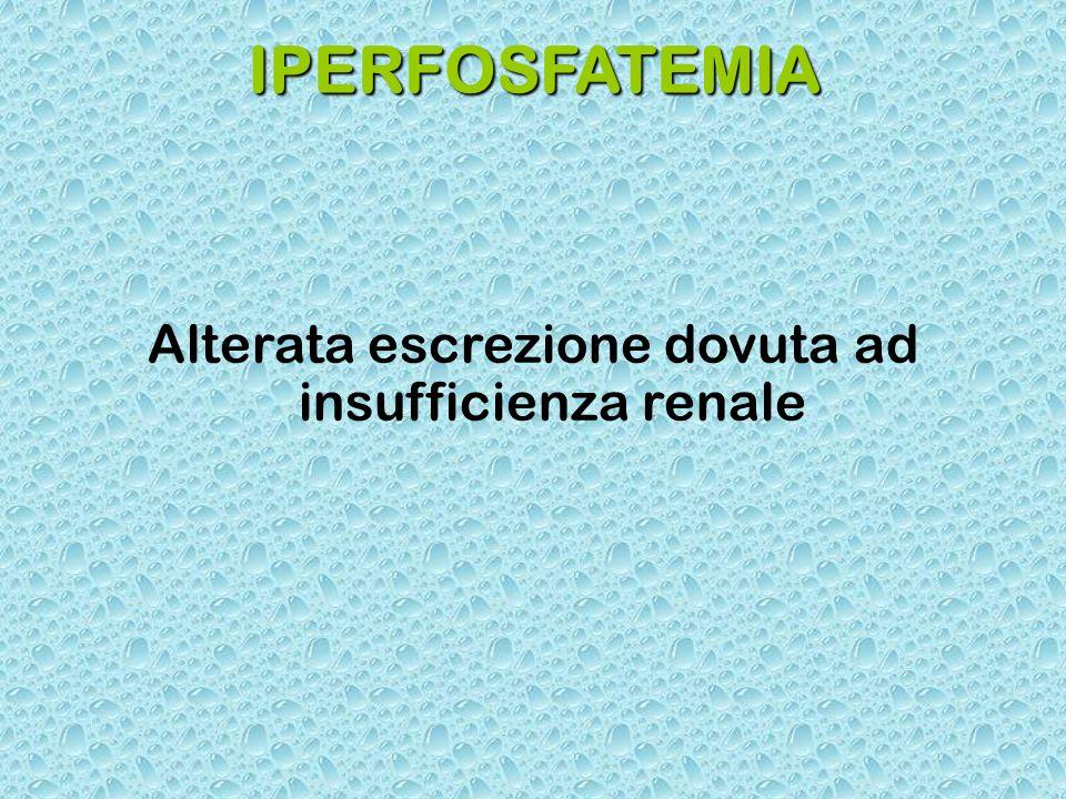 Alterata escrezione dovuta ad insufficienza renale