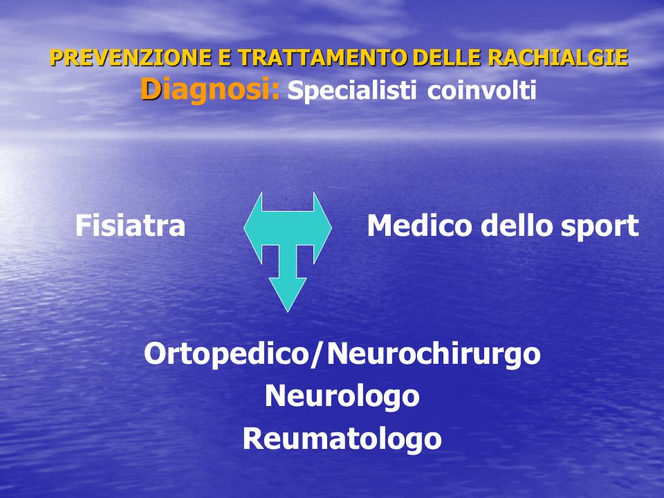 Ortopedico/Neurochirurgo