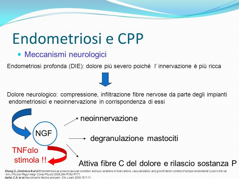 Endometriosi e CPP Meccanismi neurologici neoinnervazione NGF