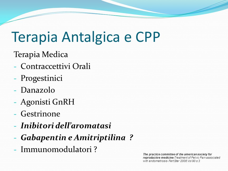 Terapia Antalgica e CPP