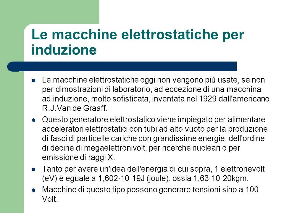 Le macchine elettrostatiche per induzione
