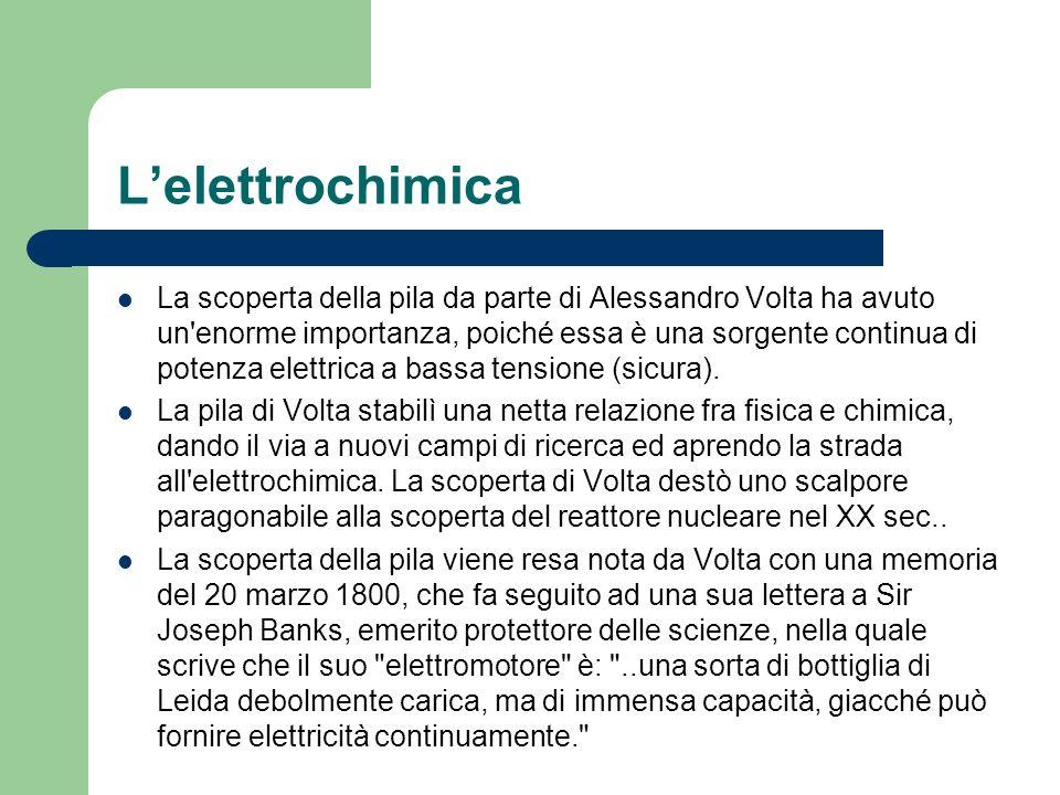 L'elettrochimica