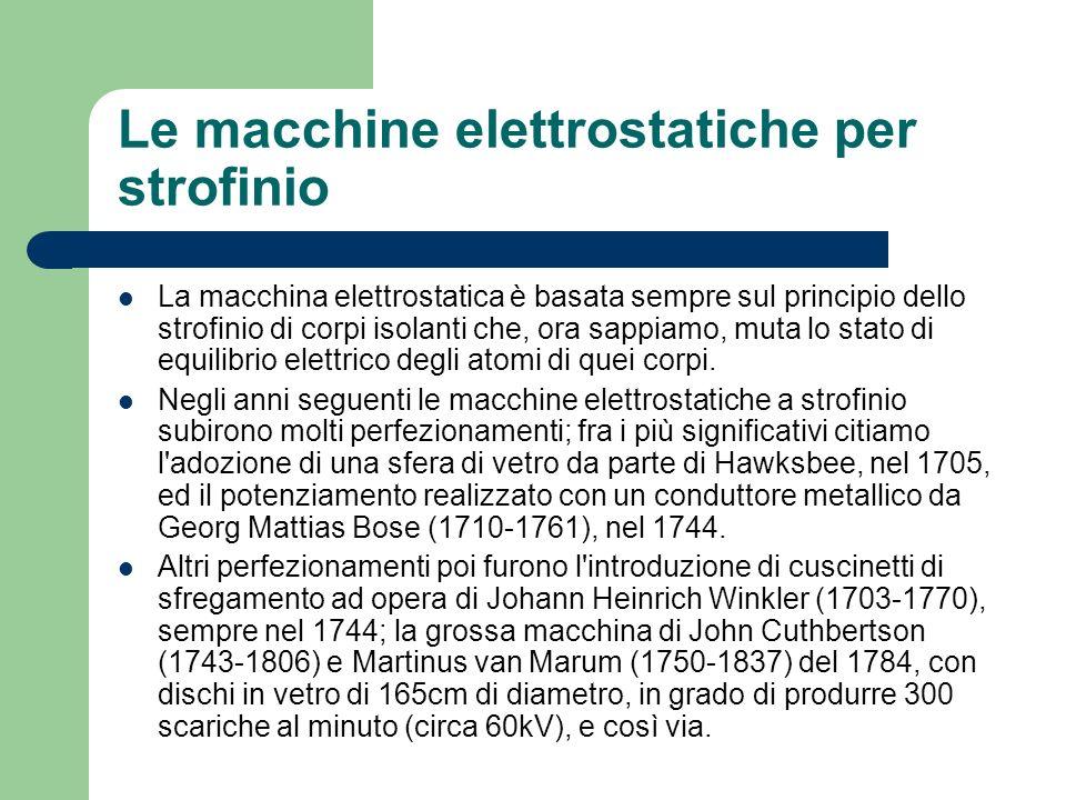 Le macchine elettrostatiche per strofinio