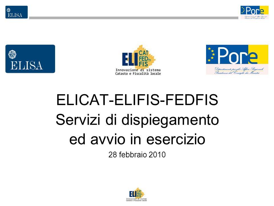 ELICAT-ELIFIS-FEDFIS Servizi di dispiegamento ed avvio in esercizio