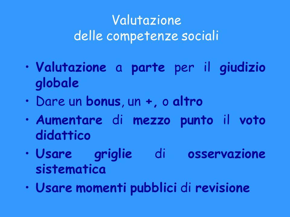 Valutazione delle competenze sociali