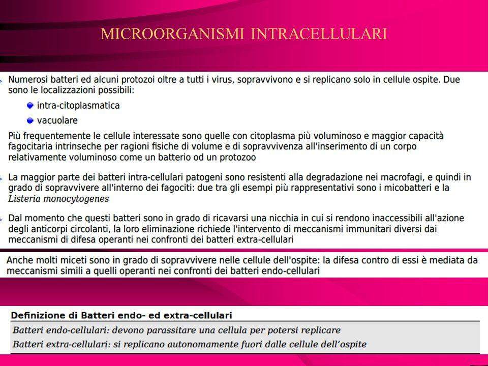 MICROORGANISMI INTRACELLULARI