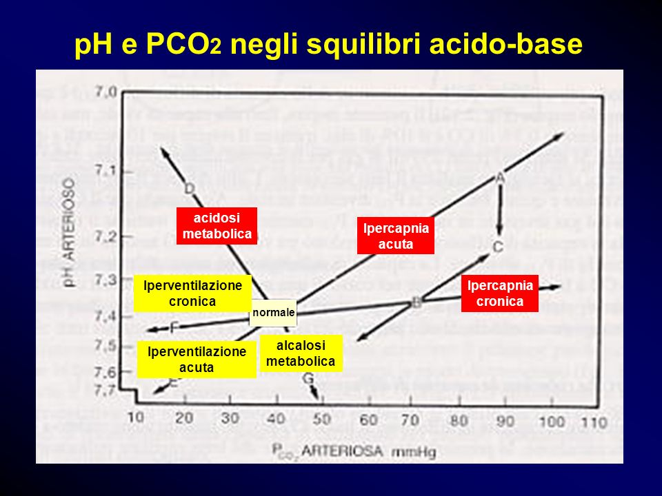pH e PCO2 negli squilibri acido-base