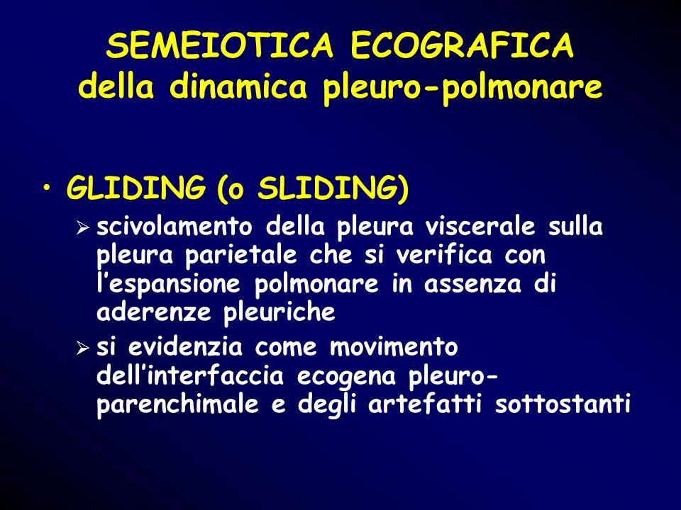 SEMEIOTICA ECOGRAFICA della dinamica pleuro-polmonare