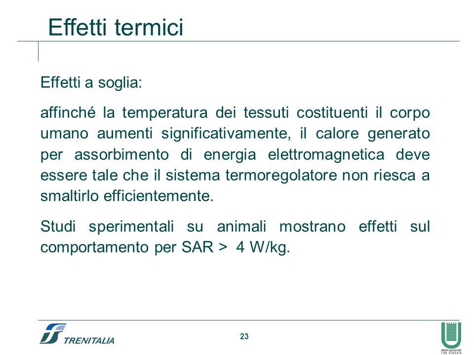 Effetti termici Effetti a soglia: