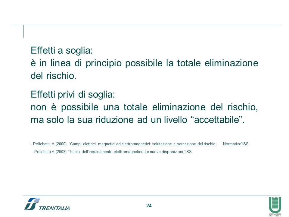 è in linea di principio possibile la totale eliminazione del rischio.