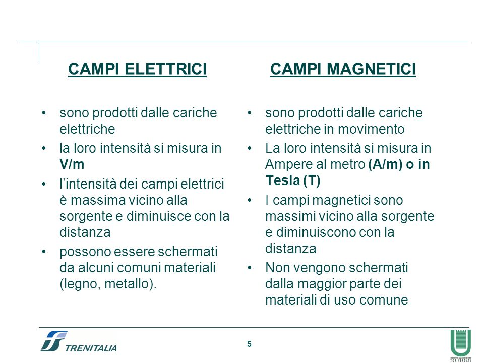CAMPI ELETTRICI CAMPI MAGNETICI sono prodotti dalle cariche elettriche