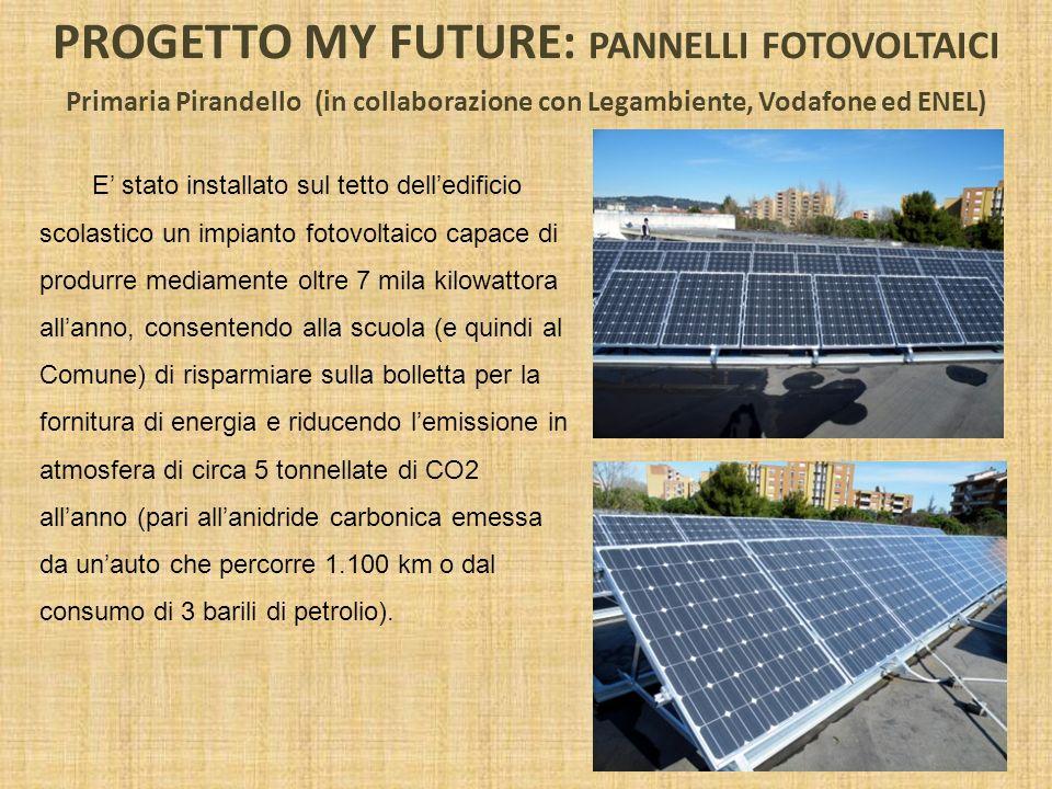 PROGETTO MY FUTURE: PANNELLI FOTOVOLTAICI