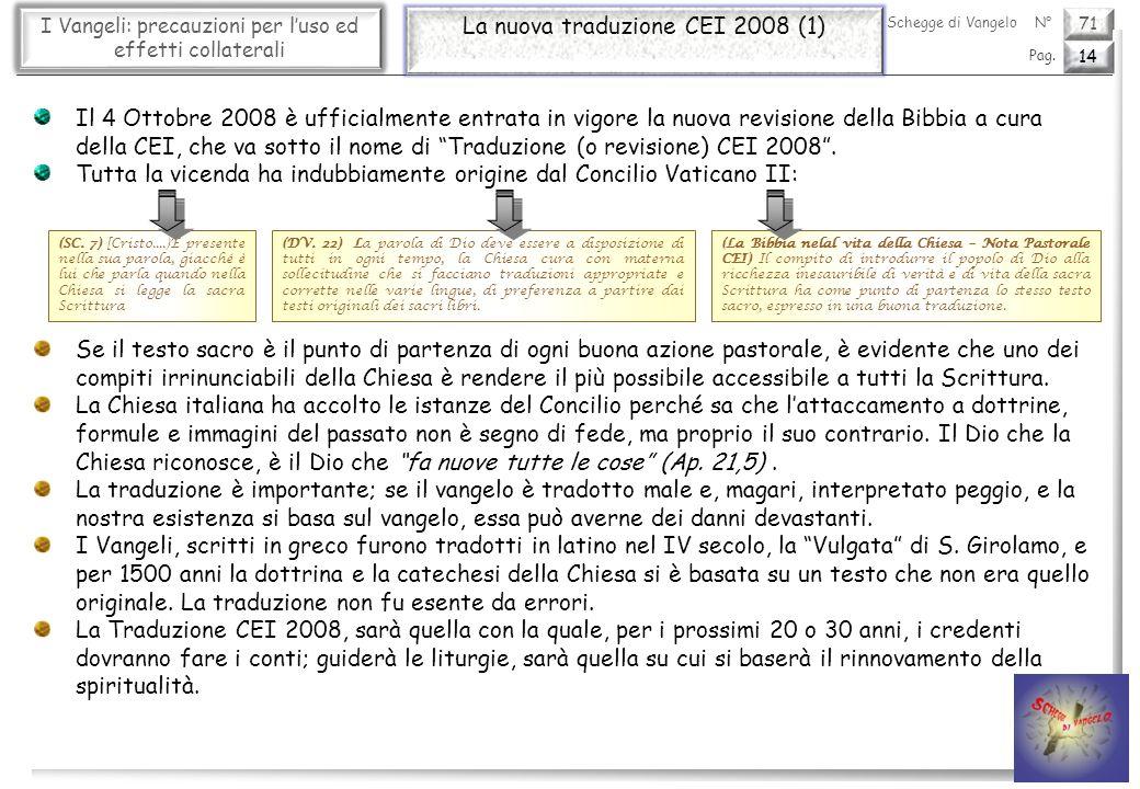 La nuova traduzione CEI 2008 (1)