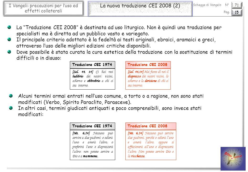 La nuova traduzione CEI 2008 (2)