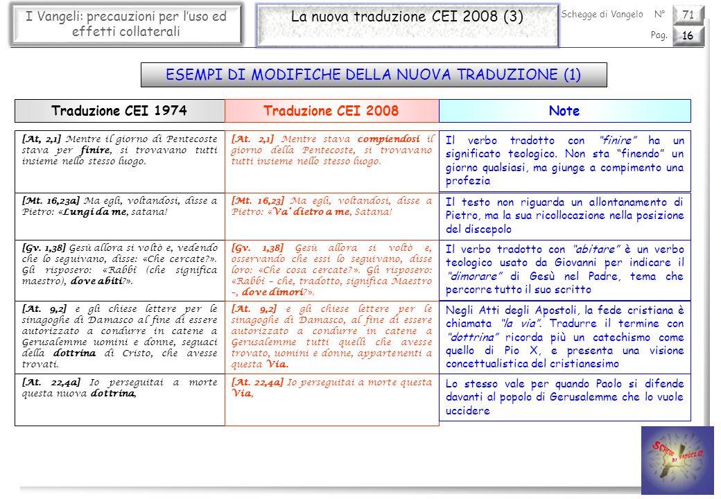La nuova traduzione CEI 2008 (3)