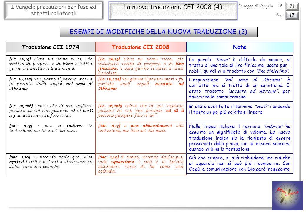 La nuova traduzione CEI 2008 (4)