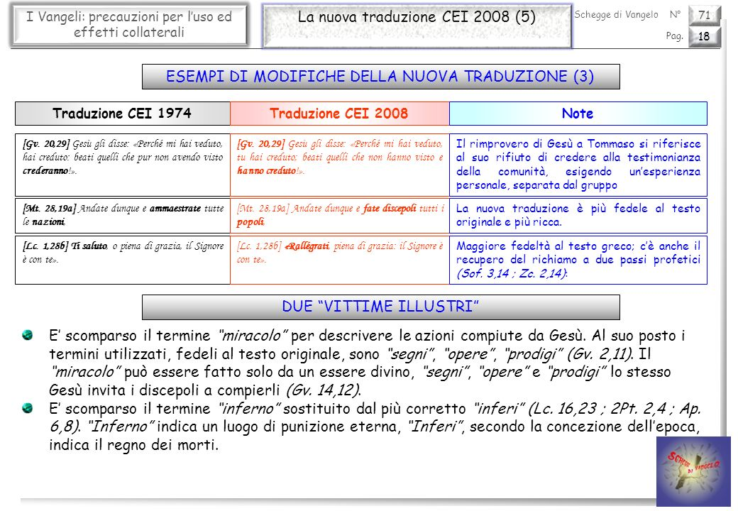 La nuova traduzione CEI 2008 (5)