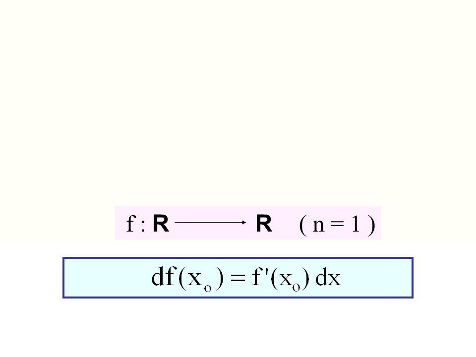 f : R R ( n = 1 ) f : Rn R