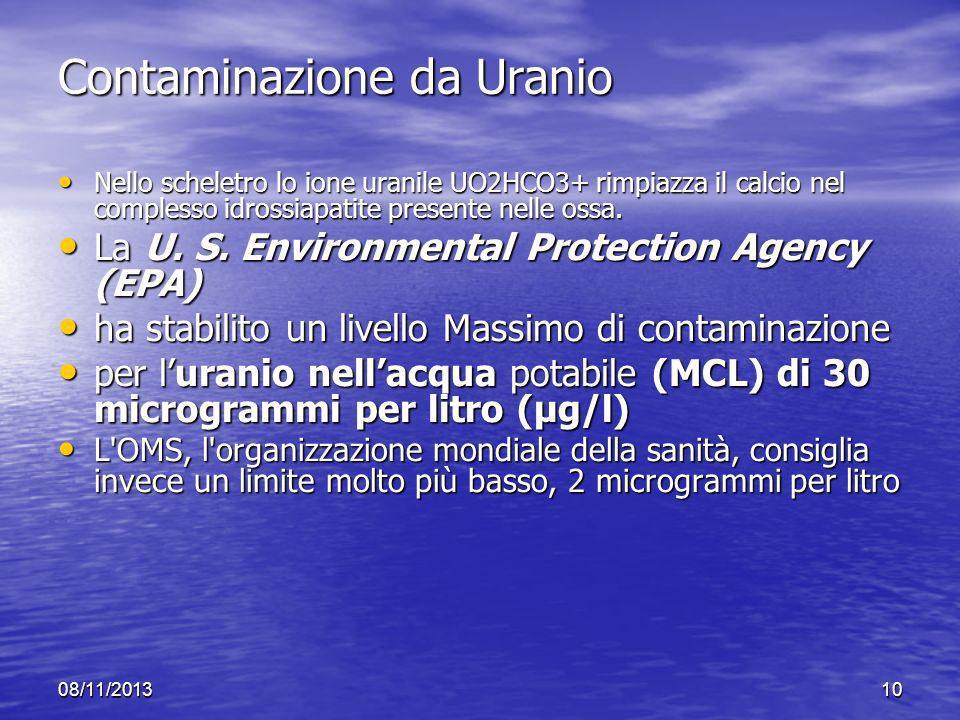 Contaminazione da Uranio
