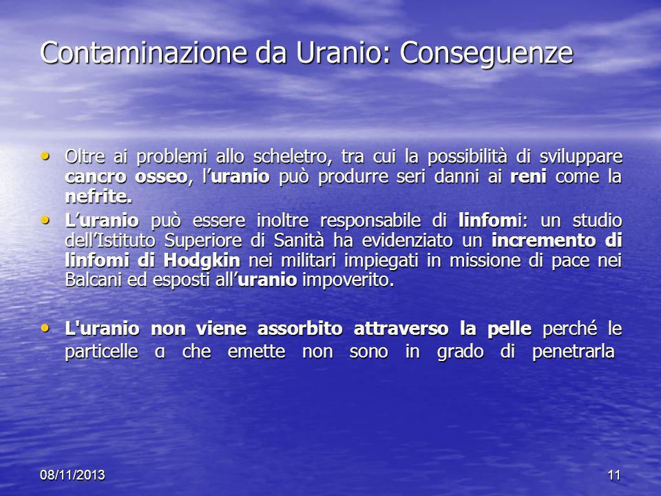 Contaminazione da Uranio: Conseguenze