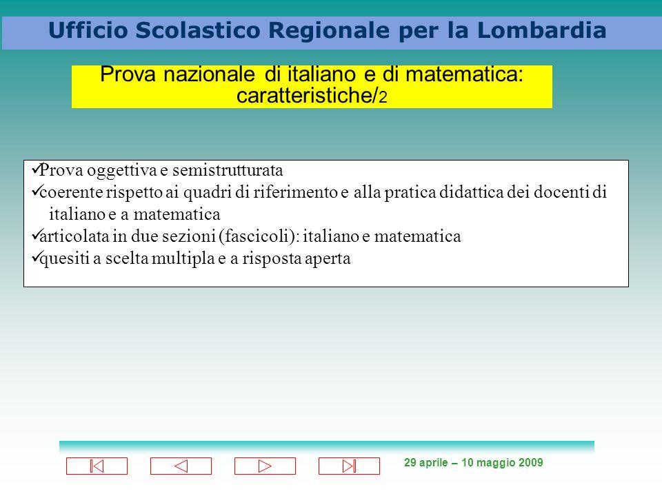 Prova nazionale di italiano e di matematica: caratteristiche/2