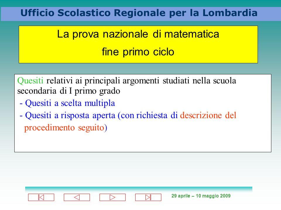 La prova nazionale di matematica fine primo ciclo