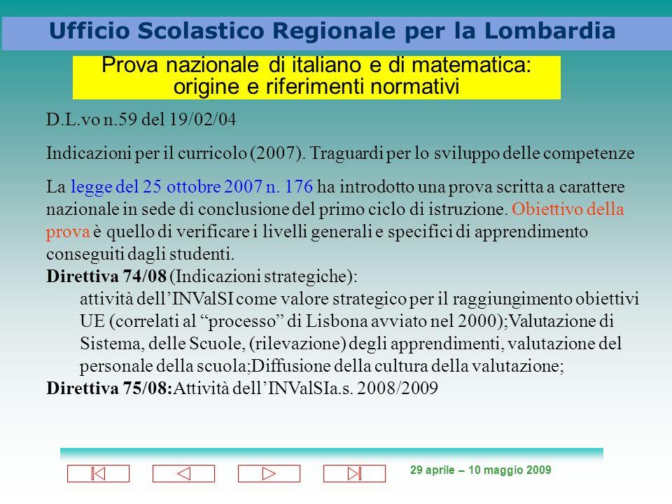 Prova nazionale di italiano e di matematica: origine e riferimenti normativi