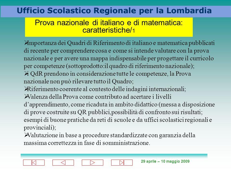 Prova nazionale di italiano e di matematica: caratteristiche/1