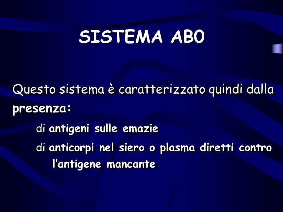 SISTEMA AB0 Questo sistema è caratterizzato quindi dalla presenza: