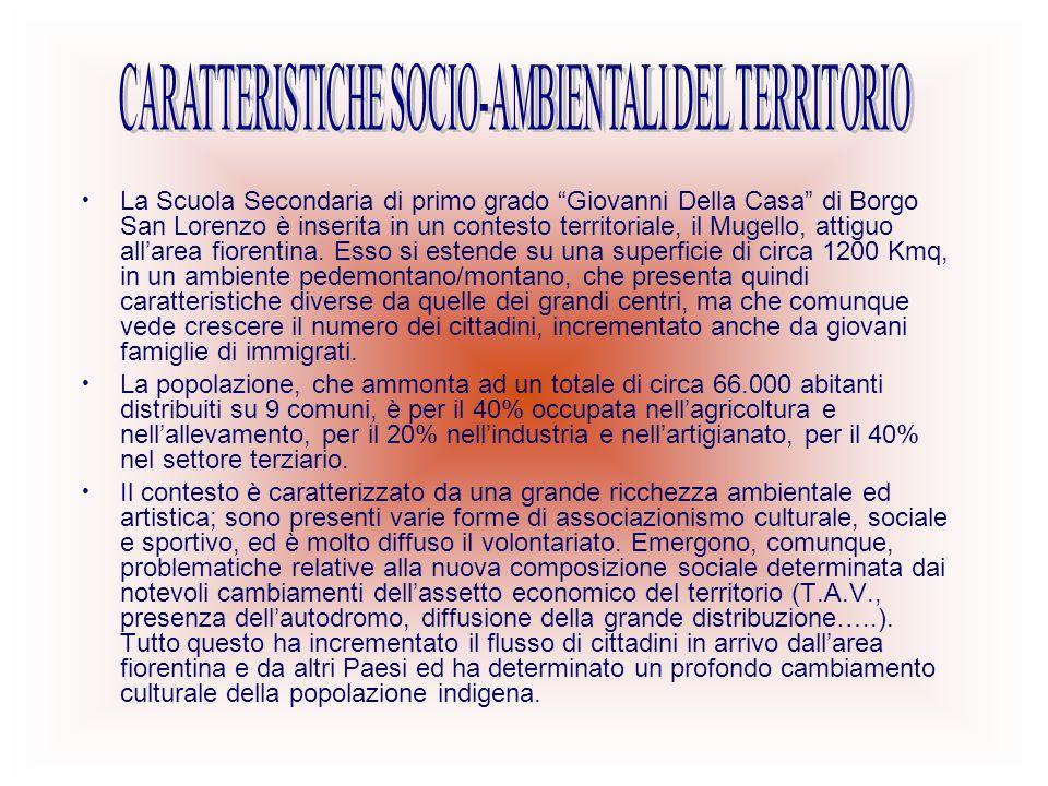 CARATTERISTICHE SOCIO-AMBIENTALI DEL TERRITORIO