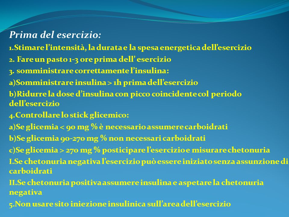 Prima del esercizio: Stimare l'intensità, la durata e la spesa energetica dell'esercizio. Fare un pasto 1-3 ore prima dell' esercizio.
