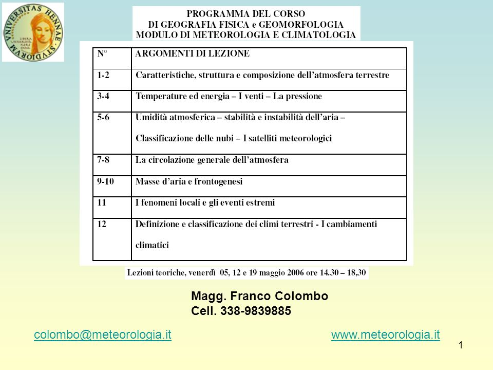 Magg.Franco ColomboCell. 338-9839885.